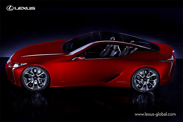 New Lexus LF-LC Concept Car  Side view
