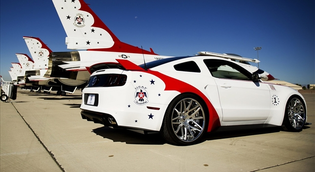 Ford Mustang GT US Air Force Thunderbirds Rear View