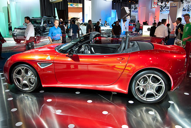 Alfa Romeo 8C Spider Side View