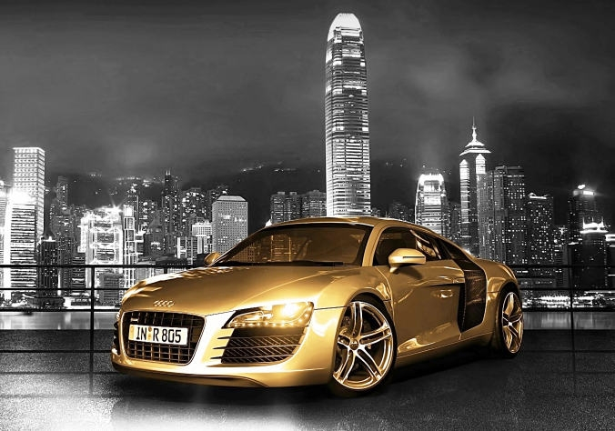 Gold Chrome Audi R8