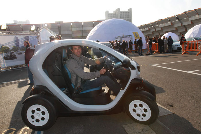 Test Drive of Renault Twizy at Bologna Motor Show 2011