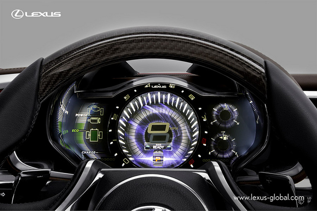 New Lexus LF LC Concept Car Dashboard Close-up