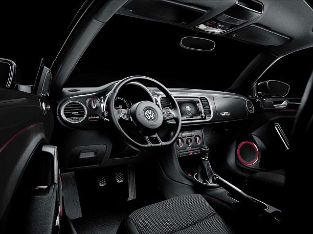 Volkswagen Super Beetle black interior