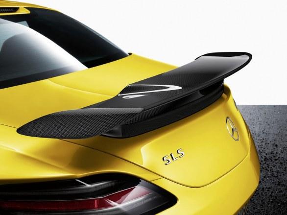 Mercedes SLS AMG Coupé Yellow Rear View