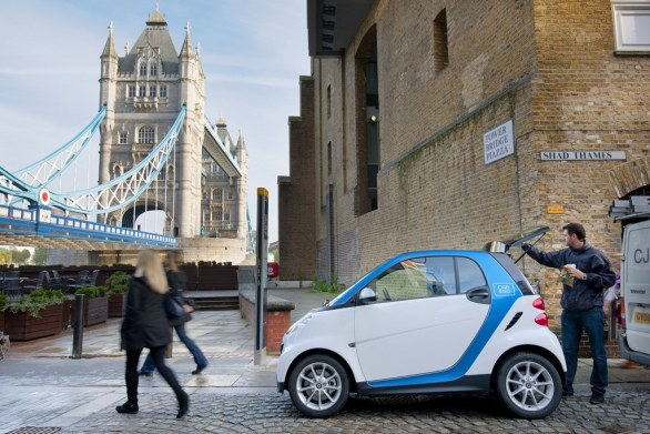 Smart car2go side view