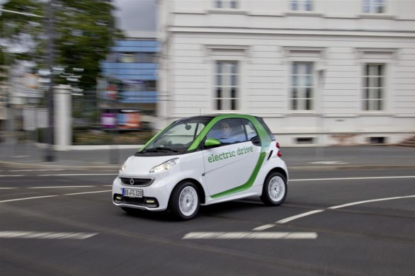 Smart fortwo side view