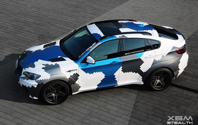 BMW X6 M Stealth Inside Performance side