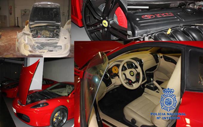 Fake Ferrari and Aston Martin seized in Spain