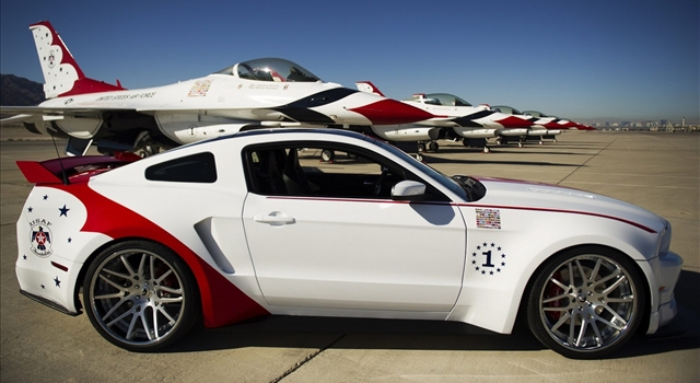 Ford Mustang GT US Air Force Thunderbirds Side View